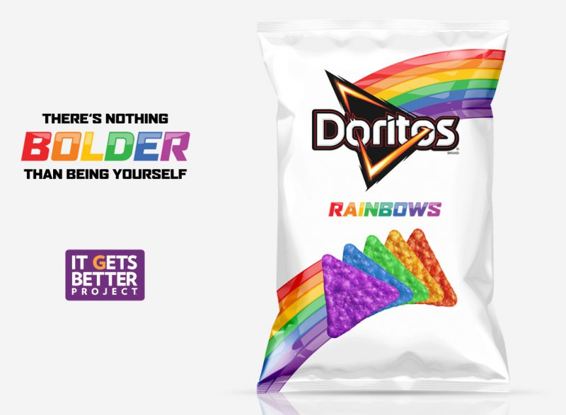Rainbow Doritos